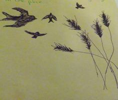 my sketchy sketch of a possible tattoo idea, not sure where birds go. Matthew 6:25-26