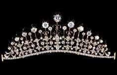 A tiara/ necklace. Set in silver and gold with brilliant cut cz (cubic…