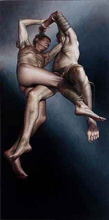 James Guppy, 'Stasis' 2012, acrylic on linen, 180 x 90cm