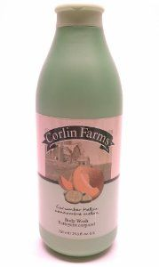 Corlin Farms Cucumber Melon Body Wash 750 Ml / 25.3 Fl. Oz. by Corlin Farms. $4.59. 750 ml / 25.3 oz.. naturally softens and cleanses skin. cucumber melon. body wash. Experience Corlin Farms freshly scented bath products the next time you take a bath or shower. All our products are formulated to soften and cleanse your skin while our gentle fragrance leaves you feeling refreshed and invigorated.