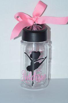 Ballerina Kids Water Bottle, Water Bottles, Acrylic Water Bottle by lollybellemonograms on Etsy