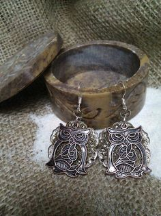Handmade silver bronze and copper layered owl by joannestanley13, $12.00