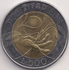 Wertseite: Münze-Europa-Südeuropa-Italien-Lira-500.00-1998