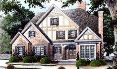 Tudor Style House Plan - 4 Beds 3.5 Baths 3355 Sq/Ft Plan #429-14