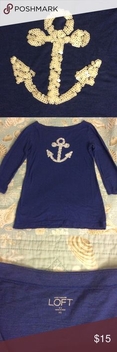 ANN TAYLOR LOFT TOP Nautical ANN TAYLOR LOFT Cotton TOP ANN TAYLOR LOFT Tops Tees - Long Sleeve
