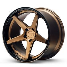 Ferrada Wheels FR3 Matte Bronze Gloss Black Lip