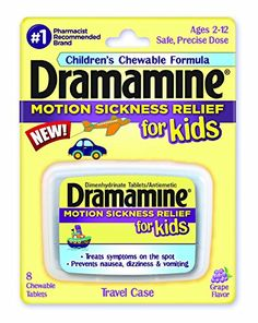 Dramamine Motion Sickness Relief for Kids, Grape Flavor,8...
