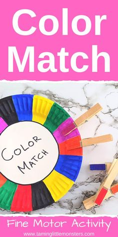 Paper Plate Color Match Activity - Taming Little Monsters