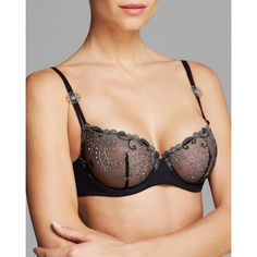 6a9cfcaad8a40 Simone Perele Bra - Delice Demi Unlined Underwire  12X330 ( 89) ❤ liked on