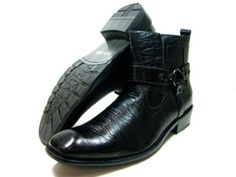 Mens Black Delli Aldo Casual Ankle High Boots Styled in Italy Delli Aldo. $29.95. Leather Lined. Designer Sole. Styled in Italy. Side Zip. Padded Insole