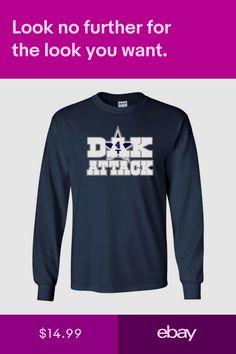 Dak Prescott Dallas Cowboys Dak Attack Youth   Mens Long Sleeve T-Shirt d26cc5fea
