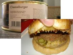 Canned Cheeseburger / Ten Of The Most Disgusting Canned Food Products