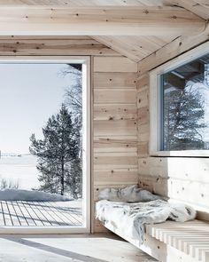 aslak haanshuus arkitekter fuses three log cabins to create lakeside retreat in norway