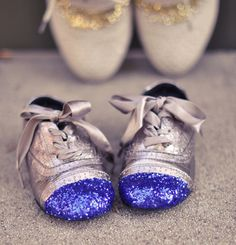 glitter cap toe shoes for baby girl