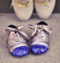 glitter cap toe shoes