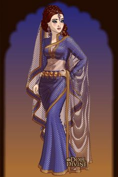 So Blue ~ by Pat000 ~ created using the Sari doll maker | DollDivine.com
