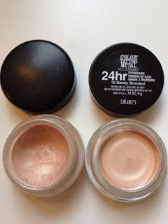 MAC Bare Study Paint Pot. Maybelline Color Tattoo in Barely Branded