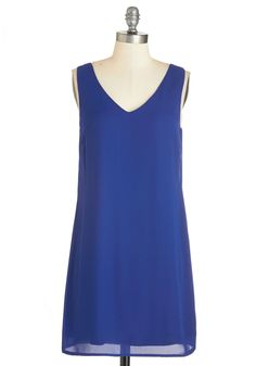 Awe For the Best Dress. Its no wonder youre the center of attention in this sapphire dress, for your glamour cant be ignored! #blue #modcloth