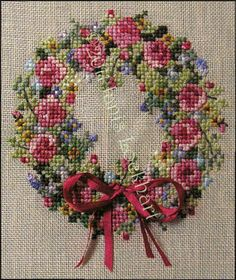 Summer Splendor Wreath - Cross Stitch Pattern