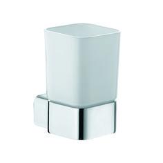 KLUDI E2 glashouder 4997505. Glas van wit gematteerd opaal glas.