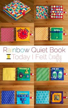 Rainbow Quiet Book - Toddler Busy Book - Today I Felt Crafty