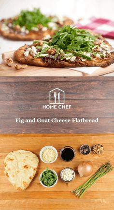 Creamy, tart goat cheese and sweet fig spread… just thinking about it, you know it tastes darn good together. But that's not all these flatbreads have going for them. Add in the nice flourish of acid-y sweetness with caramelized onions, fresh greenery with arugula and asparagus, and, why not, toasted walnuts, and we've got the Grand Poobah of flatbreads right here, being baked in your kitchen.