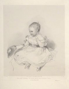 Lithograph of Queen Victoria by Richard James Lane, 1841