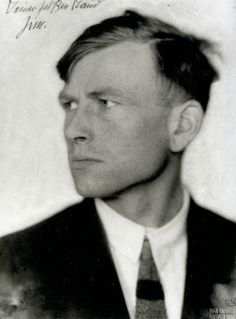 "Otto Dix by Hugo Erfurth    ""All art is exorcism. I paint dreams and visions too; the dreams and visions of my time. Painting is the effort to produce order; order in yourself. There is much chaos in me, much chaos in our time."""