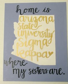 Sigma kappa home canvas Arizona state university big little gifts