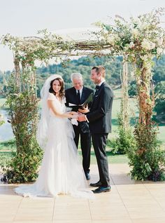 Take everything you love about a Tuscan-style wedding - think gorgeous garland, organic, loose bouquets, and olive branch details and pair it with black tie elegance. This wedding designed. Wedding Chuppah, Tuscan Style, Black Tie, Old World, Wedding Designs, Floral Design, Wedding Inspiration, Bouquet, Elegant