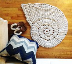 Large Nautilus Shell Rug by OceanParkOutpost on Etsy