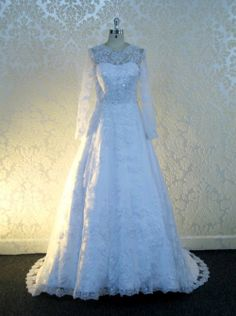 Gorgeous Modest Wedding Dress with Lace CoutureDeBride.com