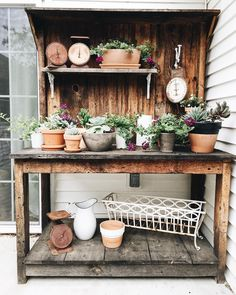 """555 Likes, 15 Comments - Morgan (@thewhitefarmhouseblog) on Instagram: """"Someday I dream of a greenhouse/garden shed for this beauty. My husband built it for me for our…"""""""