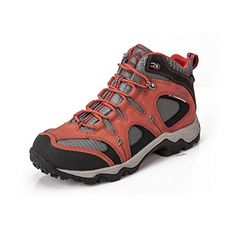 Clorts Mens Nubuck Leather Uneebtex Waterproof Mid Hiking Boot Outdoor Trekking Shoe Maroon HKM820B US10 * Click image to review more details.(This is an Amazon affiliate link and I receive a commission for the sales)