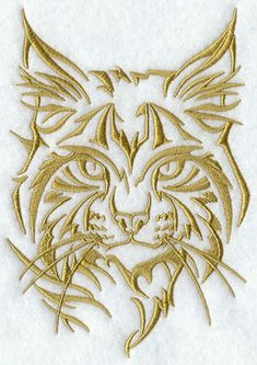 Machine Embroidery Designs at Embroidery Library! Lynx, Animal Outline, Leather Tooling Patterns, Chip Carving, Canvas Messenger Bag, Vintage Canvas, Machine Embroidery Applique, Scroll Saw Patterns, Stained Glass Patterns