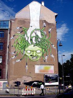 Street Art by Miss Van ? / Shanghai Street Art graffiti-street art Water Child by: Zena Holloway Blu Street art Urban Street Art, Best Street Art, Amazing Street Art, Urban Art, Amazing Art, Awesome, Banksy, Graffiti Artwork, Street Art Graffiti
