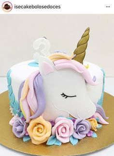 Birthday is a special day for everyone, and a perfect cake will seal the deal. F… Birthday is a special day for everyone, and a perfect cake will seal the deal. Fantasy fictions create some of the best birthday cake ideas. 7th Birthday Cakes, Unicorn Birthday Parties, Unicorn Party, Girl Birthday, Unicorn Themed Cake, Unicorn Cake Topper, Women Birthday, Birthday Month, Unicorne Cake