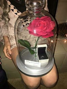 16 romantic and unforgettable marriage proposal ideas - A request in the style of Beauty and the Beast. 16 romantic and unforgettable marriage proposal ideas Cute Prom Proposals, Homecoming Proposal, Wedding Proposals, Marriage Proposals, Prom Posals, Propositions Mariage, Dance Proposal, Disney Proposal, Proposal Photos