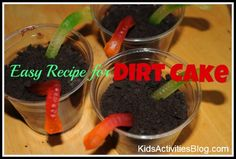Easy Recipe for Kids: Dirt Cake