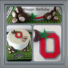 Made this red velvet Cake for a Ohio State Buckeye fan