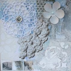 lace by Ingrid Peulen mixed media/collage