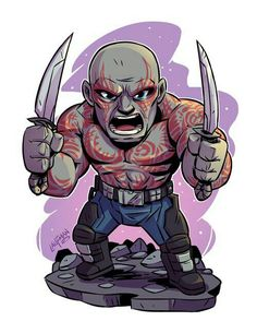 drawing marvel Chibi Drax Print — Derek Laufman - **Price is in US Dollars** Signed x Print on high quality gloss stock. Drawing Cartoon Characters, Character Drawing, Marvel Characters, Comic Character, Cartoon Drawings, Chibi Marvel, Marvel Art, Marvel Heroes, Chibi Superhero