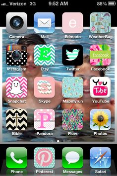 Lilly Pulitzer apps... i must do this now.  From the Cocoppa app, then search for Lilly Pulitzer to find the icons, or search for new icons for the apps you already have or would like to add by app name.