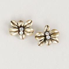 j.crew flora button earrings