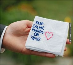 customized hankie   CHECK OUT MORE IDEAS AT WEDDINGPINS.NET   #bridesmaids