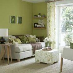 Green living room #green #living_room #home_decor