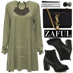 Zaful by oshint on Polyvore featuring moda, Yves Saint Laurent, H&M, Bobbi Brown Cosmetics and zaful