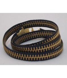 Lilla Designs Navy Zipper Bracelet - The Blues Jean Bar, the Best Place to Buy Jeans!
