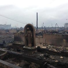 """""""the wedge"""". 110 homes burned that night. the blessed mother was the only thing left. watching and weeping at first and then sending the message to be strong to persevere. Far Rockaway, Rockaway Beach, Hail Holy Queen, Hail Mary, Blessed Mother Mary, Blessed Virgin Mary, Ignatius Of Antioch, Mother Angelica, Faith In God"""