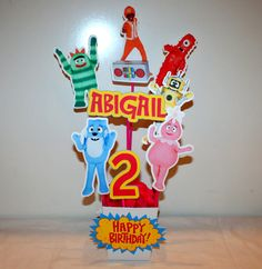 YO GABBA GABBA Centerpiece - Handmade - Yo Gabba Gabba Birthday Party Decorations Boy or Girl Party on Etsy, $27.00